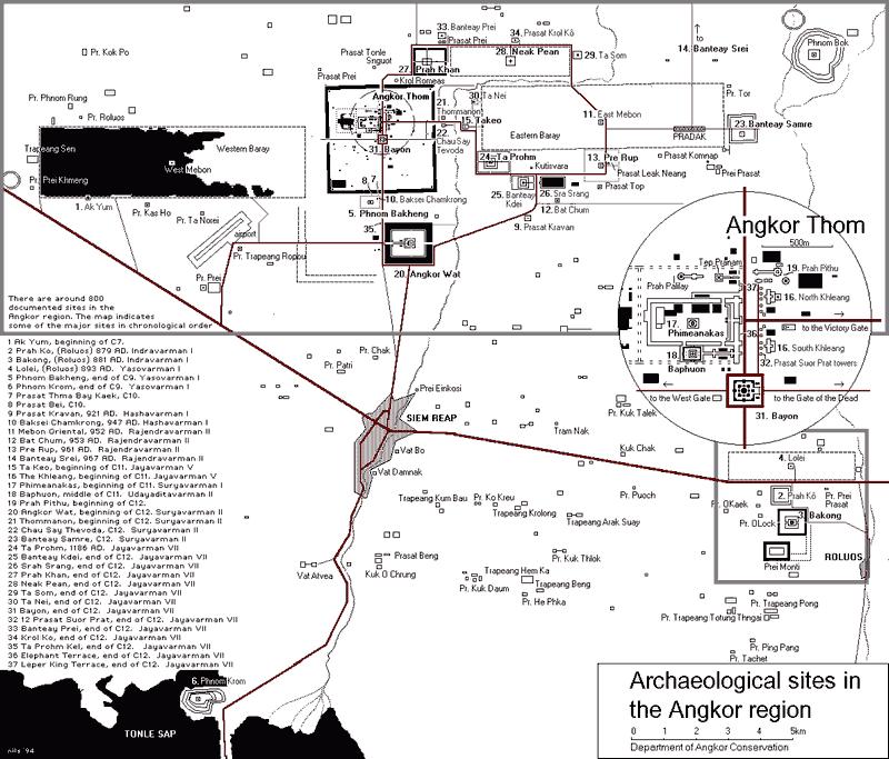 Схема археологических объектов
